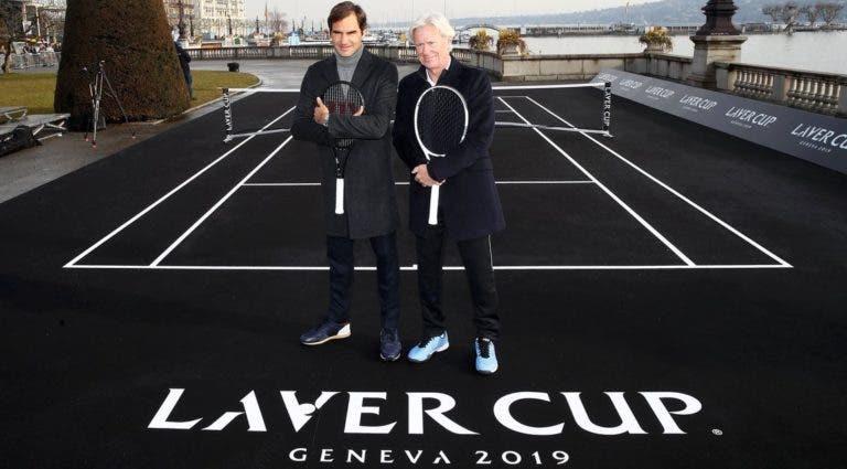 [FOTOS] Federer e Borg apresentaram a Laver Cup 2019