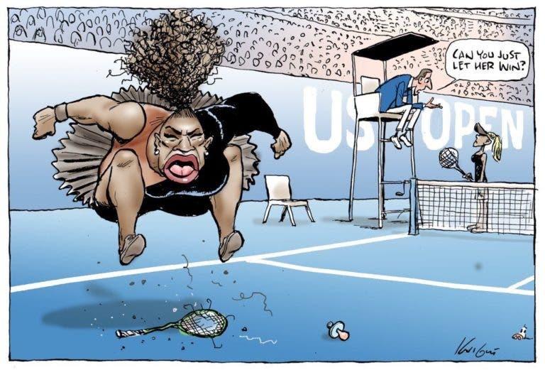 Ainda se lembra do polémico cartoon de Serena? Conselho Australiano de Imprensa reage e diz não existir racismo