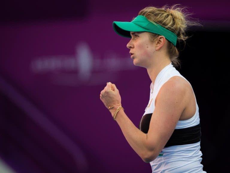 Svitolina despacha Ostapenko num dos duelos mais aguardados do dia em Doha