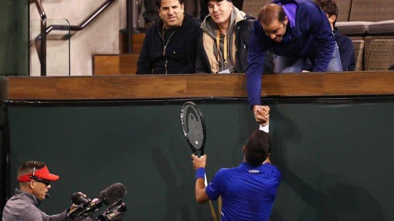Djokovic sensibilizado com presença de Sampras: «Estava nervoso, queria impressioná-lo»