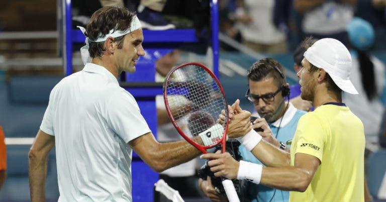 Albot após o jogo com Federer: «Ele é um humano, tem forças e fraquezas. Não há que ter medo»