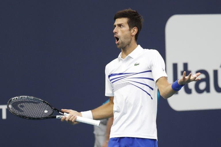 Djokovic sobre as condições de jogo: «Parece que estou a jogar em indoor, não se sente o vento»