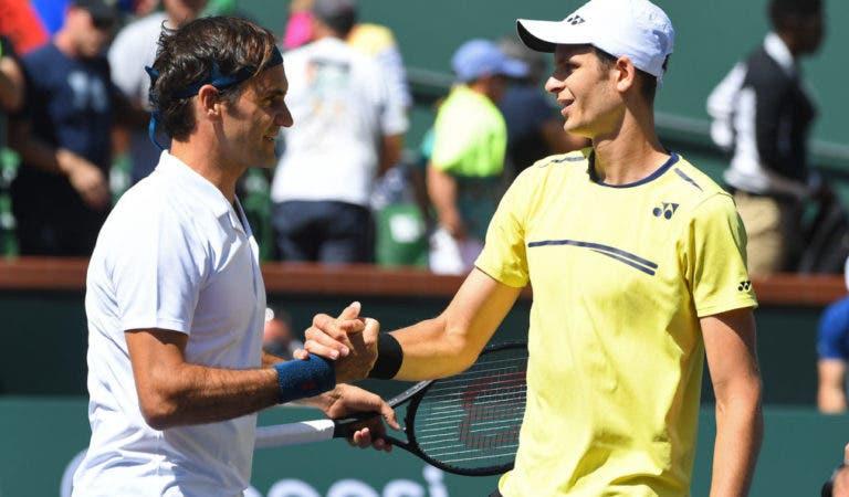 Hurkacz: «Federer é o meu ídolo, a primeira vez que o vi tinha oito ou nove anos»