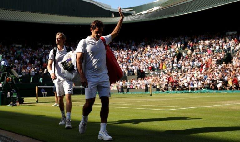 Federer e a derrota com Anderson em Wimbledon: «Quem me ganha daquela forma tem a minha atenção para sempre»