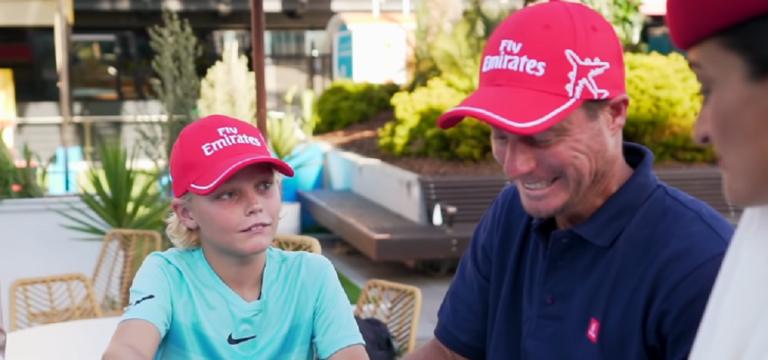 Filho de Hewitt já treina com o pai… e com Tony Roche