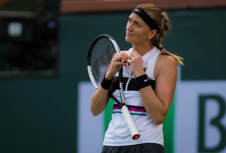 Kvitova não quer arriscar e adia regresso à competição na próxima semana
