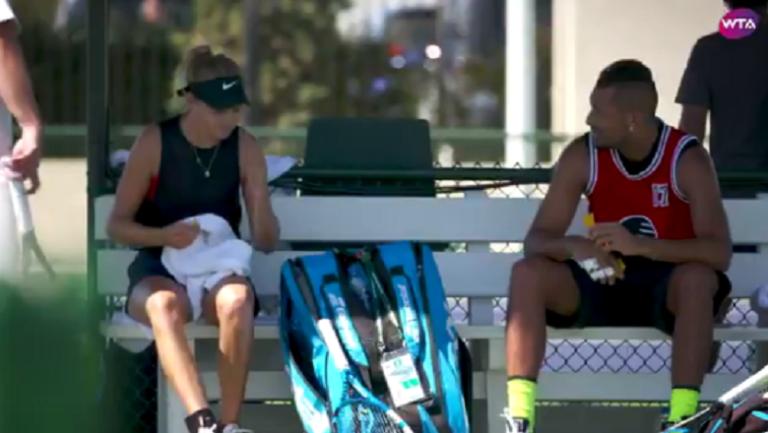 [VÍDEO] Kyrgios treinou em Indian Wells com jovem estrela… do WTA
