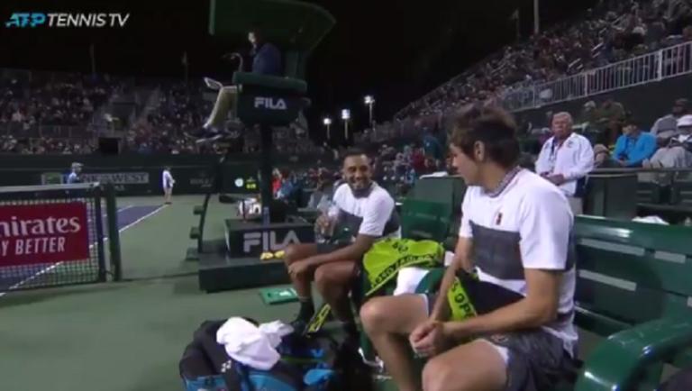 [VÍDEO] Kyrgios desabafa durante o encontro de pares: «Estou a responder como se fosse o Djokovic»