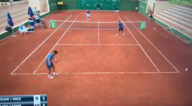 [VÍDEO] Também há um Djokovic que serve por baixo