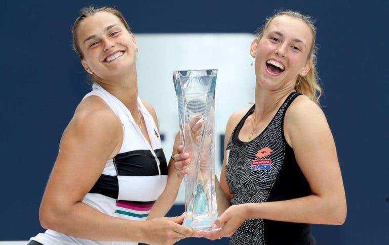 Sabalenka e Mertens confirmam dupla de sucesso e conquistam o Sunshine Double
