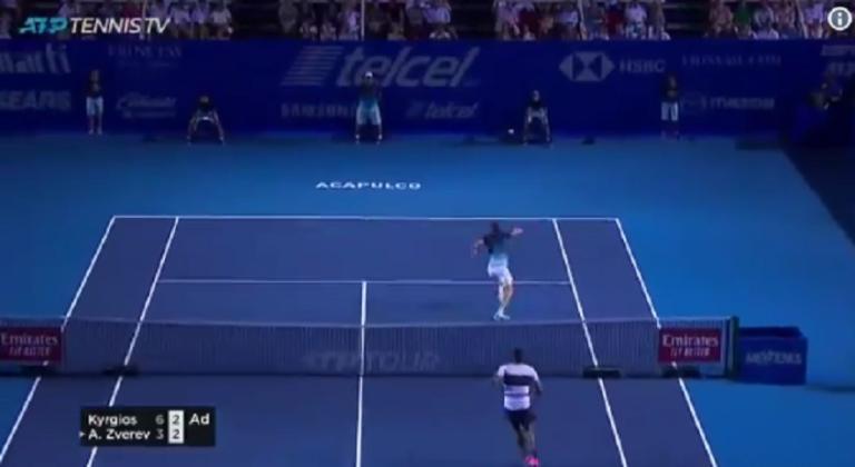 [VÍDEO] Kyrgios foi campeão em Acapulco com pontos… como este