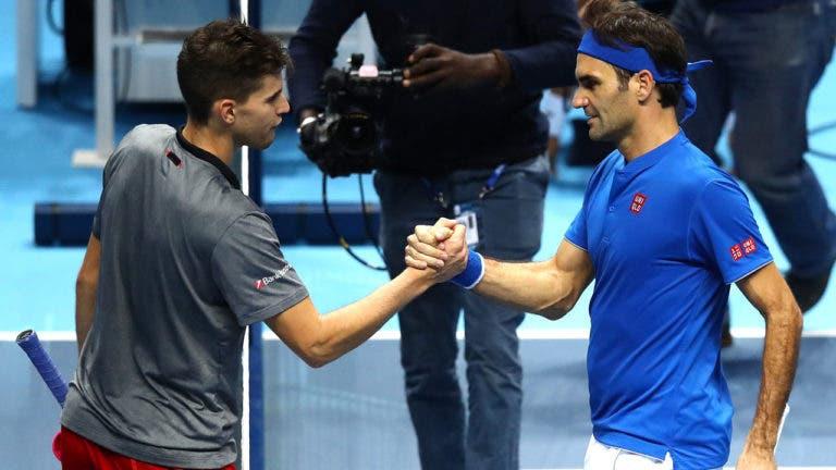 Federer vs. Thiem na final de Indian Wells: onde e quando poderá ver em Portugal