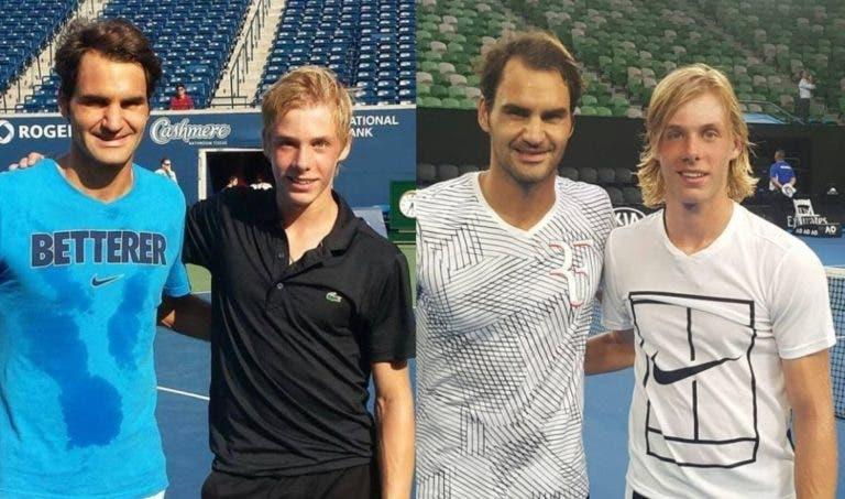 Federer desfaz-se em elogios para Shapovalov: «Ainda me lembro quando ganhou ao Nadal, fiquei impressionado»