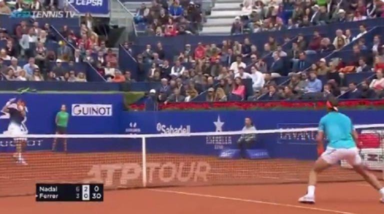 [VÍDEO] Por que vais embora David? Ferrer ganha ponto brutal a Nadal