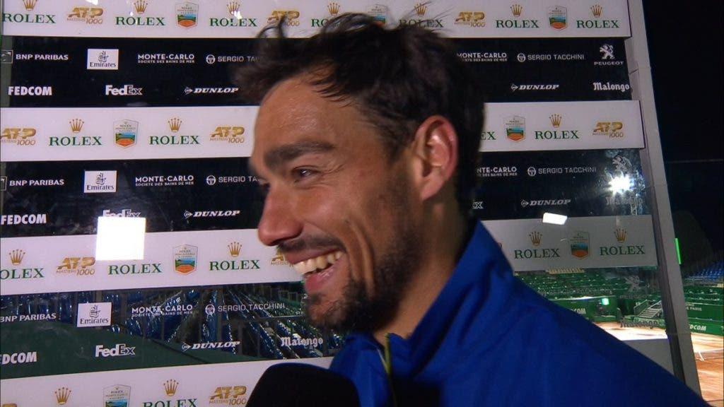 Fognini: «Já ganhei mais do que um vez ao Rafa em terra; Vou tentar de novo»