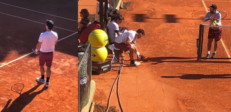 [VÍDEO] Chegou Fabio Fognini… e já treina no Estoril