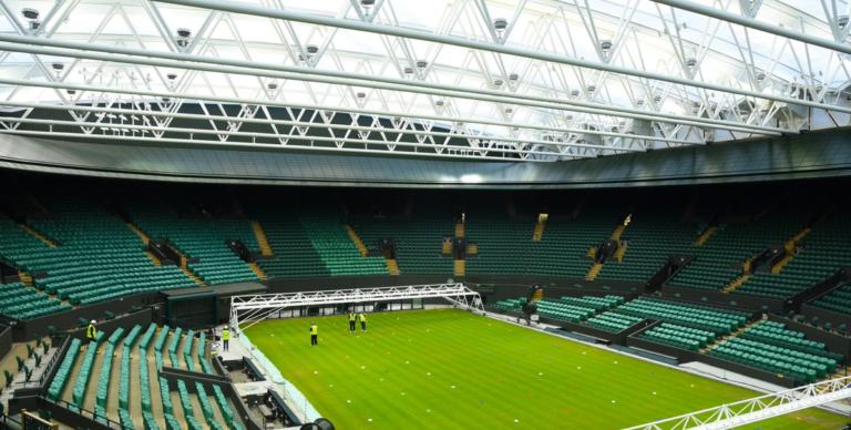 [FOTO] Wimbledon apresenta o seu novo court coberto: está pronto