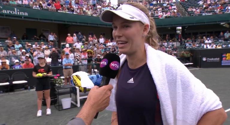 Caroline Wozniacki regressa às finais seis meses depois