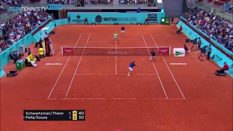 [VÍDEO] João Sousa joga ponto impressionante frente a Thiem e Schwartzman em Madrid