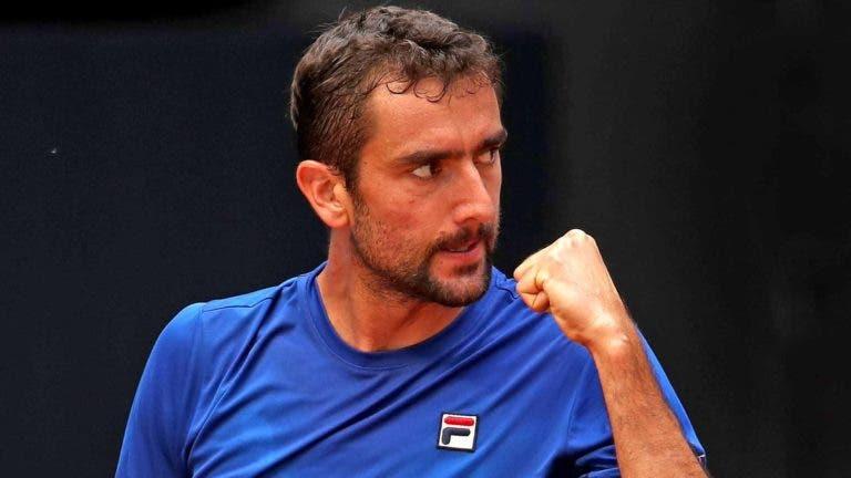 Cilic recupera de set e break abaixo e fica à espera de Novak Djokovic