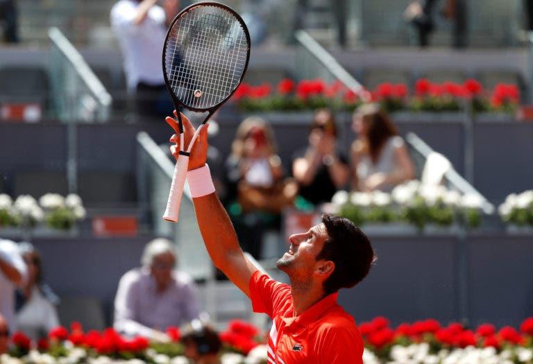 Djokovic: «Vou estar no court a ver o Federer-Thiem. Estou muito entusiasmado com esse duelo»