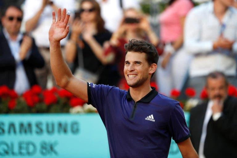Thiem e o duelo com Djokovic: «Defrontá-lo não podia ser um desafio mais alto»