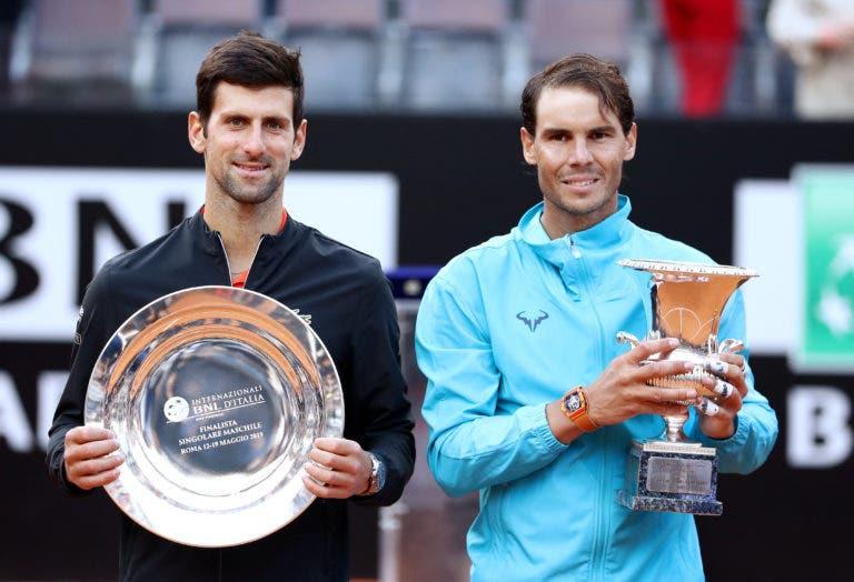 De novo na frente: Nadal volta a descolar de Djokovic e é o jogador com mais Masters 1000 da história