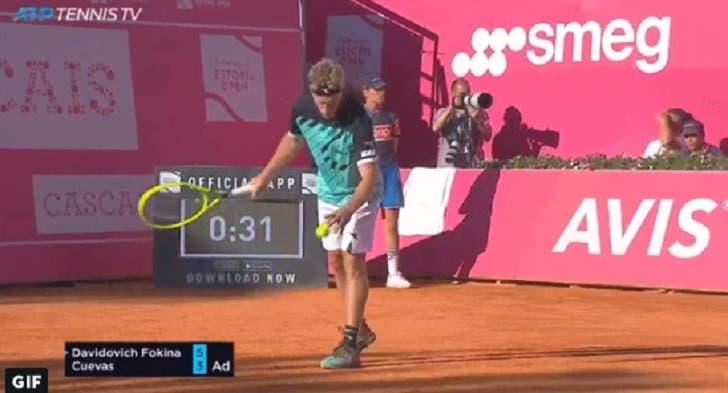 [VÍDEO] Davidovich serviu por baixo na meia-final do Estoril Open