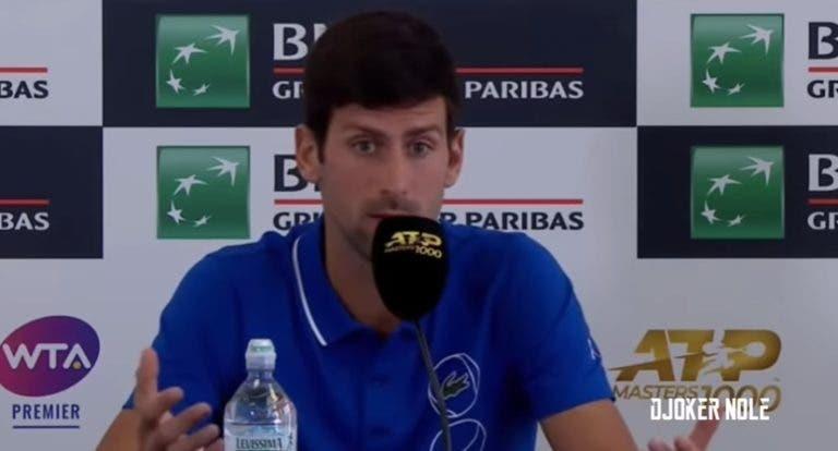 Djokovic deixa Kyrgios a falar sozinho em Roma: «Não tenho opinião»