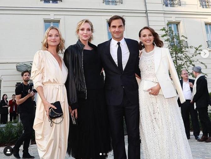 Federer brinda com estrelas de Hollywood em Paris