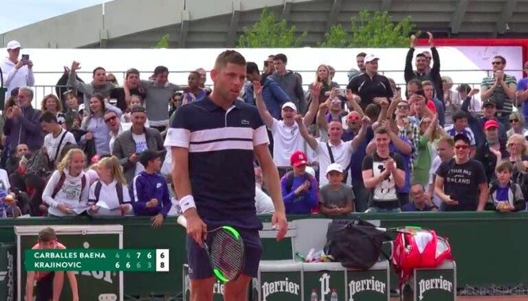 Filip Krajinovic sobrevive ao duelo mais longo da semana em Paris