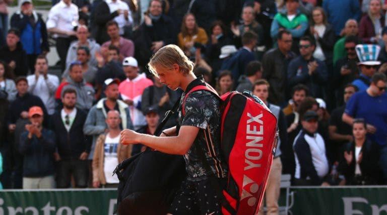 Denis Shapovalov perde rapidamente na 1.ª ronda de Roland Garros