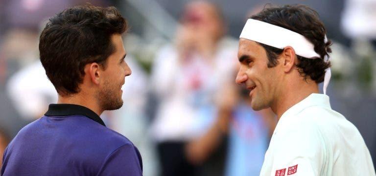 Federer 'adorou' a reação de Thiem à 'expulsão' da sala de conferências
