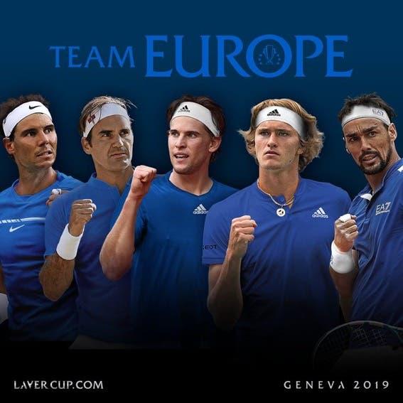 Equipa da Europa confirma mais três top 10 para a Laver Cup