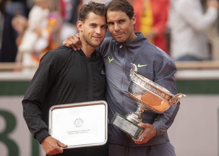 Thiem: «Espero ganhar um dia Roland Garros sem ter de defrontar o Nadal»
