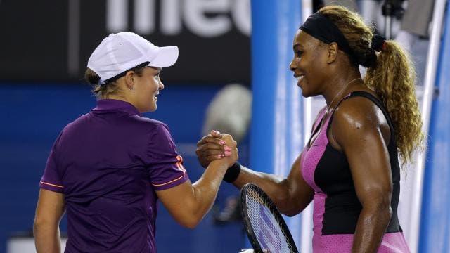 Serena Williams não fazia a mínima ideia de que Barty era a nova n.º 1