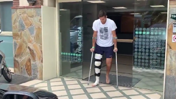 [VÍDEO] Foi assim que Juan Martín Del Potro saiu do hospital