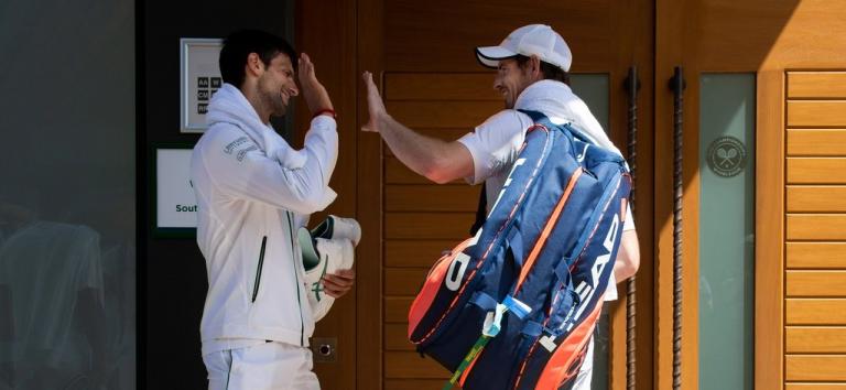 Djokovic e Murray vão fazer direto juntos no Instagram