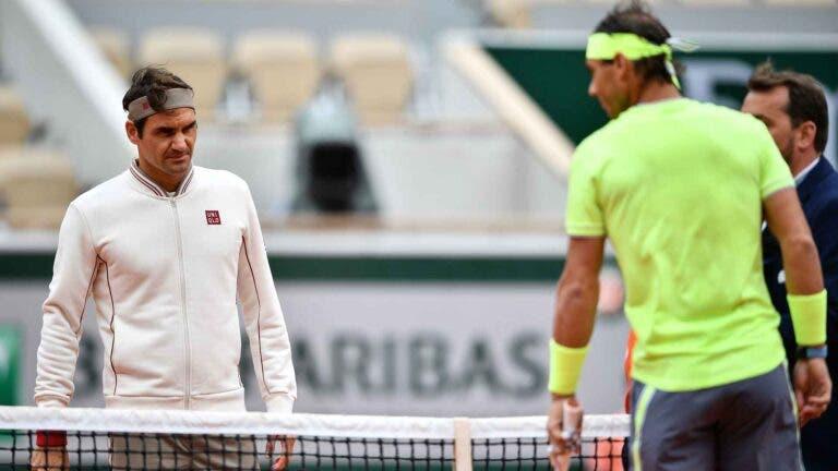 Nadal e Federer são os jogadores do circuito com melhor percentagem de pontos… no 2.º serviço