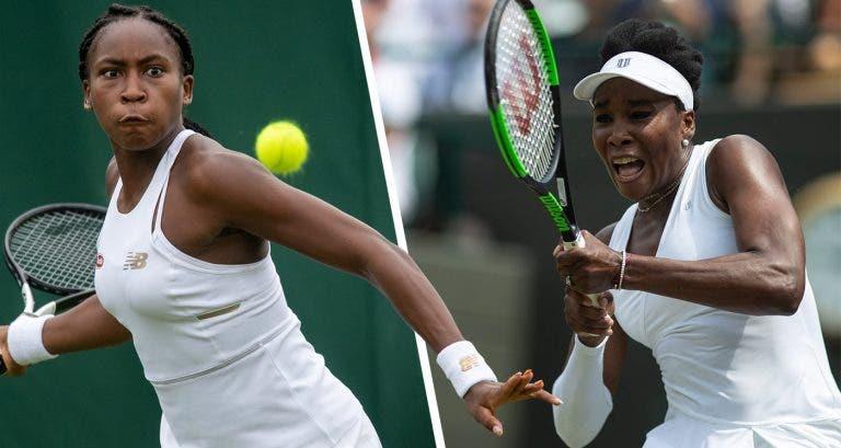 Gauff vs. Venus em Wimbledon vai entrar na história