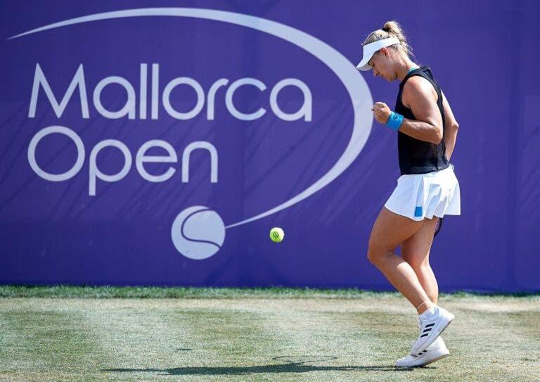 Kerber não dá hipóteses a Sharapova rumo aos 'quartos' em Maiorca