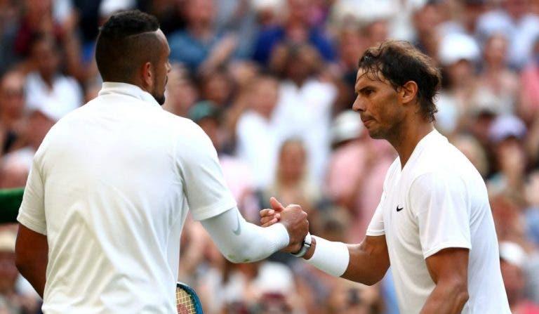 Paire recorda a forma (estranha) como Kyrgios reagiu a derrota com Nadal em Wimbledon