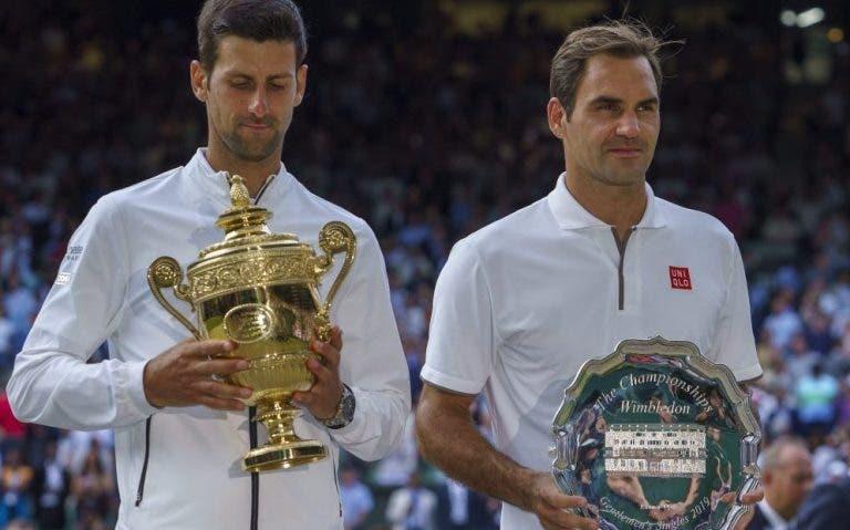 Roddick: «Fala-se de Federer como rei da relva mas quem tem dominado Wimbledon é Djokovic»
