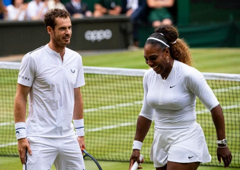 Serena impôs condição a Murray para a parceria em Wimbledon