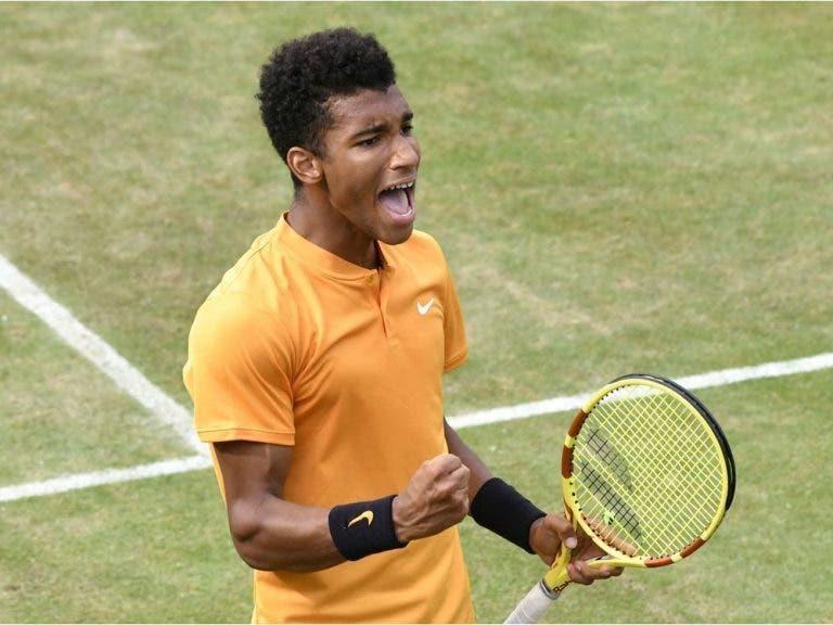 Aliassime é o 1.º jogador nascido em 2000 a jogar (e a ganhar) em Wimbledon