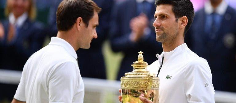 Federer e Djokovic jogaram a final mais longa história de Wimbledon