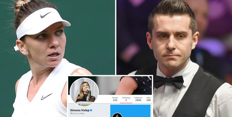Halep explica por que razão Mark Selby é uma das duas pessoas que segue no Twitter