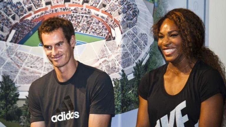 Serena e Murray já têm adversários para a inédita presença nos pares mistos de Wimbledon