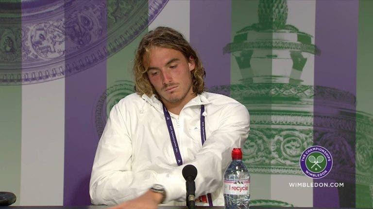 Tsitsipas: «Depois de perder em Wimbledon tranquei-me no quarto a ler uma bio do Federer»
