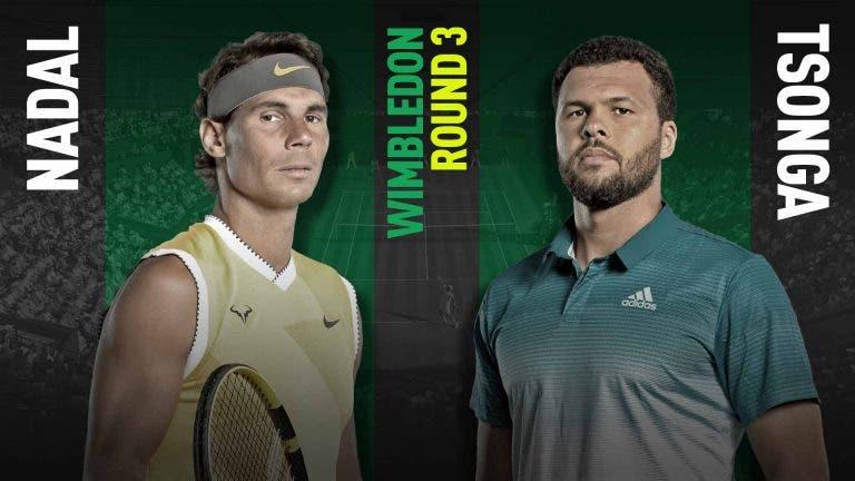 Wimbledon: Nadal versus Tsonga no nosso live center